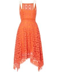 Free People - Just Like Honey Lace Dress With Hankerchief Hem - Lyst