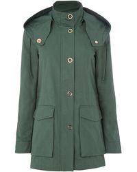Armani Exchange - Caban Coat In Moss - Lyst