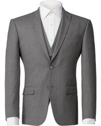 Scott & Taylor - Men's Grey Tailored Fit Suit Jacket - Lyst
