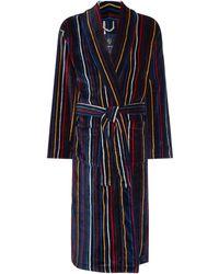 Howick | Multistripe Towelling Dressing Gown | Lyst
