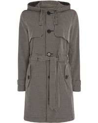 Armani Exchange - Hooded Caban Coat - Lyst