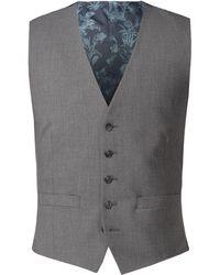 Scott & Taylor - Men's Grey Adjustable Fit Waistcoat - Lyst