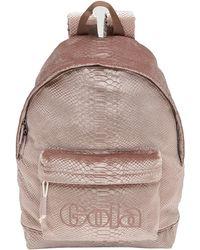 Gola Mini Harlow Velvet Snake Rucksack - Pink