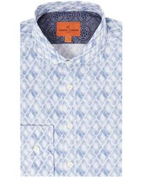 Simon Carter | Watercolour Diamond Print Harrison Shirt | Lyst