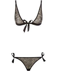 Bluebella - Tabitha Tie-front Bra And Tie-side Brief Set - Lyst
