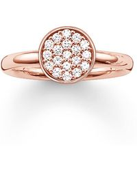 Thomas Sabo | Sparkling Circles Pave Set Ring | Lyst