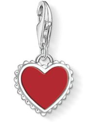 Thomas Sabo | Frilled Red Heart Charm | Lyst