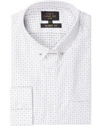 5a4daf466 Label Lab Men's Detropolitan Spot Texture Shirt in Pink for Men - Lyst