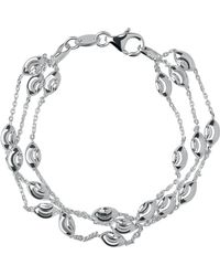 Links of London - Beaded Chain 3 Row Bracelet-l - Lyst
