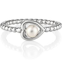 Jersey Pearl - Silver Heart Ring - Lyst