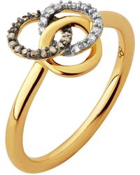 Links of London - Treasured 18ct Gold & Diamond Ring - Lyst