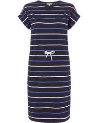 Barbour - Marloes Short Sleeve Striped Waist Tie Dress - Lyst