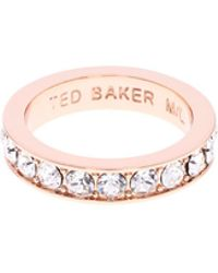 Ted Baker - Claudie Narrow Crystal Band Ring - Lyst