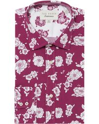 Ted Baker - Men's Irrit Bold Tonal Floral Shirt - Lyst