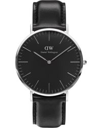 Daniel Wellington - Classic Blk Sheffield 40 Silver Watch - Lyst