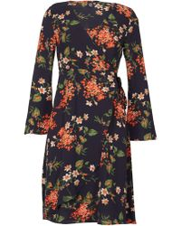 Izabel London - Split Sleeve Wrap Dress - Lyst