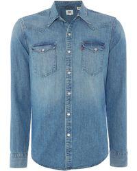 Levi's | Classic Fit Denim Western Shirt | Lyst