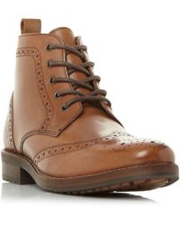 Howick | Marcher1 Chisel Toe Brogue Boots | Lyst