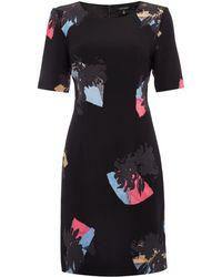 Ellen Tracy - Floral Half Sleeve Sheath Dress - Lyst