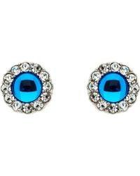 Monet - Silver Light Sapphire Crystal Earrings - Lyst