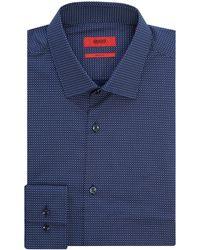 HUGO | Men's Slim Fit Multi Ditsy Spot Shirt | Lyst