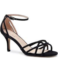 Paradox London Pink - Majesty Mid Heel Ankle Strap Sandals - Lyst