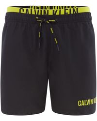 ebc6e33e59 CALVIN KLEIN 205W39NYC - Men's Intense Power Double Waistband Swimshorts -  Lyst