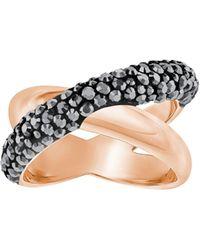 Swarovski - Crystaldust Cross Ring - Lyst