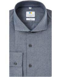 Richard James | Printed Spot Chambray Slim Fit Shirt | Lyst