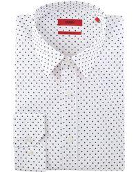 HUGO - Men's Erriko Pin Dot Chambray Shirt - Lyst