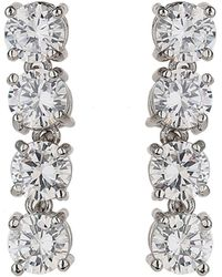 Mikey - Four Round Cubic Link Drop Earring - Lyst