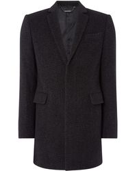 Kenneth Cole - Fulton Epsom Wool Blend Coat - Lyst