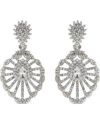 Mikey - Filigree Design Spread Crystal Earring - Lyst