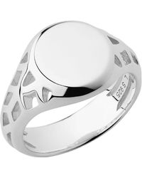 Links of London - Timeless Sterling Silver Signet Ring - Lyst