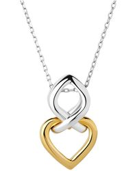 Links of London - Infinite Love Silver & Gold Necklace - Lyst