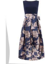 Eliza J - Tie Waist Fit And Flare Dress - Lyst