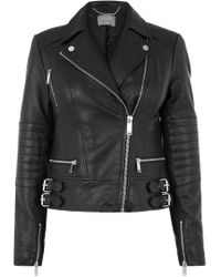 Oasis | Leather Authentic Biker Jacket | Lyst