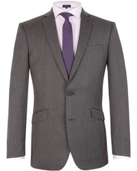 Racing Green - Herringbone Notch Collar Tailored Fit Suit Jacket - Lyst