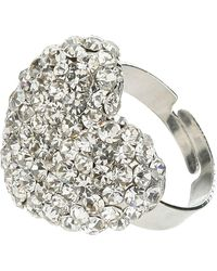 Mikey - Heart Crystal Ring - Lyst