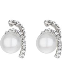 Mikey | Twister Crystal Pearl Drop Earring | Lyst
