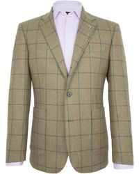 Paul Costelloe - Harp Twill Windowpane Check Blazer - Lyst
