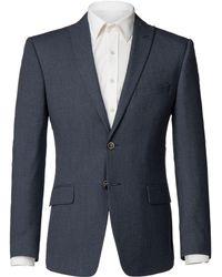 Limehaus | Men's Liam Blue Puppytooth Jacket | Lyst