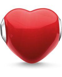 Thomas Sabo - Glass Red Heart Karma Bead - Lyst