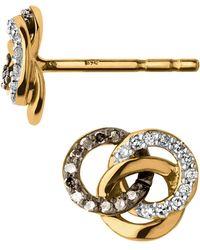 Links of London - Treasured Gold & Diamond Stud Earrings - Lyst