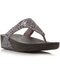 Fitflop | Glitterball Toe Toepost Sandals | Lyst