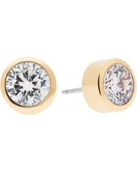 Michael Kors - Park Avenue Glam Jewelled Stud Earrings/goldtone - Lyst