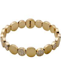 Pilgrim - Grace Gold Plated White Bracelet - Lyst