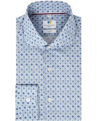 Richard James - Watercolour Mosaic Print Slim Fit Shirt - Lyst