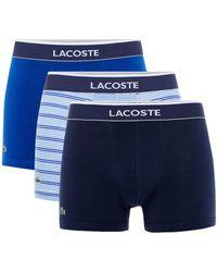 Lacoste - Men's 3pk Fashion Stripe Trunk - Lyst