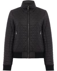 Andrew Marc - Quilted Bomber Jacket - Lyst